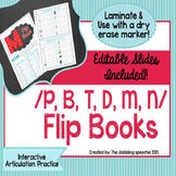 Interactive Articulation FLIP BOOKS For Early Developing S