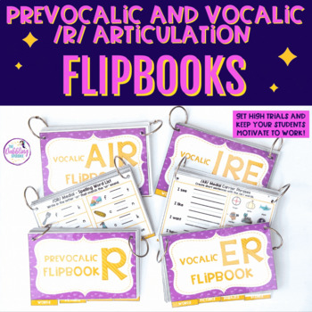 Interactive Articulation FLIP BOOKS For /prevocalic r, er,