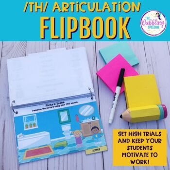 Interactive Articulation Flip Book For /TH/