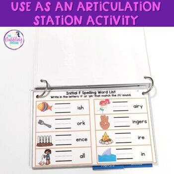 Interactive Articulation Flipbooks for /F,V/ (with editable slides included)!