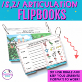 Interactive Articulation Flipbooks for /s,z/ with editable slides!