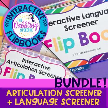 Articulation & Language Screener For Elementary- Interactive Flipbook BUNDLE