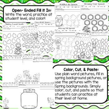 Interactive Articulation Notebook- Early Sounds: Spring Edition