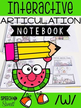 Interactive Articulation Notebook for /w/