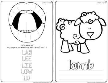 Articulation Homework Readers for Speech Therapy (L Edition)