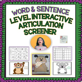 Speech Therapy: Interactive Word & Sentence Level Articulation Screener