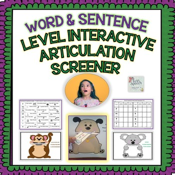 Speech Therapy: Interactive Word & Sentence Level Articula