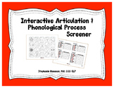 Interactive Articulation & Phonological Screener
