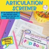 Articulation Screener For Elementary- Interactive Flipbook