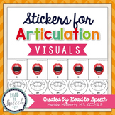 Interactive Articulation Stickers {Speech Sound Visuals}