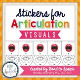 Interactive Articulation Stickers {Speech Sound Visuals}