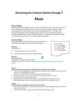 Interactive Arts for Total Literacy Unit 1:  Discovering the Common Element