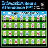 Valentine's Day Bears Interactive Attendance PowerPoint