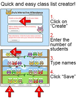 Interactive Attendance All Year Mega Bundle for All Whiteboards and Smartboards