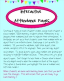 Interactive Attendance Pages (SMARTboard)