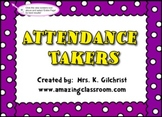 Interactive Attendance Takers to use with SMARTBOARD - Requires Smart Notebook