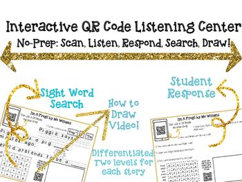 Interactive Audio QR Code Listening Center - Listen, Read, Respond, & Draw!