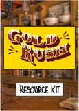 Interactive Australian Gold Rush Game Cards