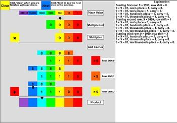 Interactive Base 10 Multiplication: 3x4