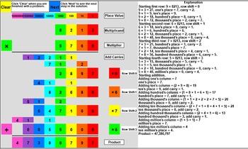 Interactive Base 10 Multiplication: 4x4