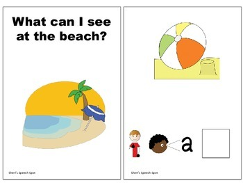 Interactive Beach Vocabulary Book