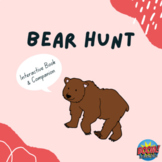 Interactive Bear Hunt Vocabulary Book and Language Activities for Speech Therapy