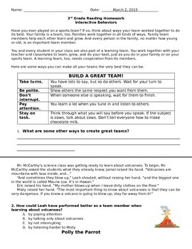 Interactive Behaviors TN SPI 0301.2.2 Homework