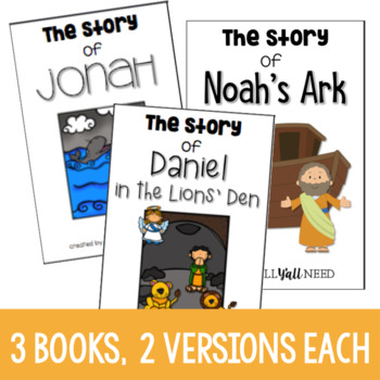 Interactive Bible Stories, Set 7: Jonah, Noah, and Daniel in The Lions' Den