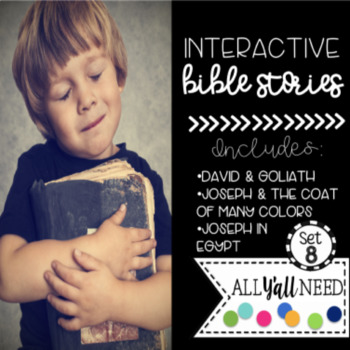 Interactive Bible Stories, Set 8: David & Goliath and Joseph Parts 1 and 2