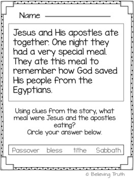 Interactive Bible Vocabulary Notebook