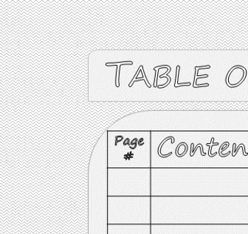 interactive binder table of contents gray by ashley beck tpt