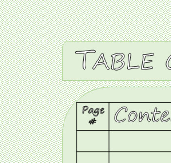 Interactive Binder Table of Contents (Green)