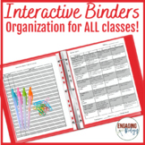 Interactive Binders - Organization for ALL Classes!