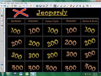 Interactive Biology Jeopardy for Smart Board!