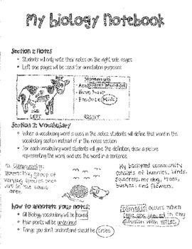 Interactive Biology Notebook