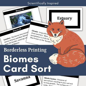 Interactive Biomes Card Sort - Abiotic and Biotic Factors