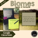 Biomes (Aquatic & Terrestrial) for Google Classroom {Interactive}