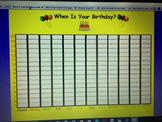 Interactive Birthday Graph