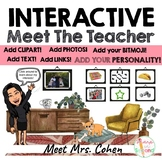 Interactive Bitmoji Meet The Teacher Home Template 2