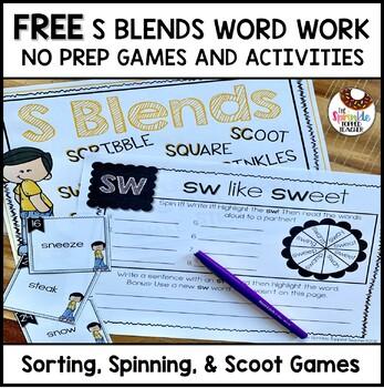 Interactive Blends Word Work Sneak Peek!