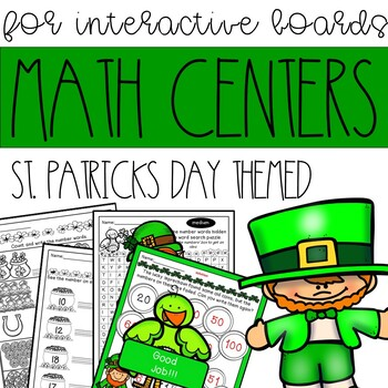 Interactive Board St. Patrick's Day Math for Kindergarten (answer keys included)