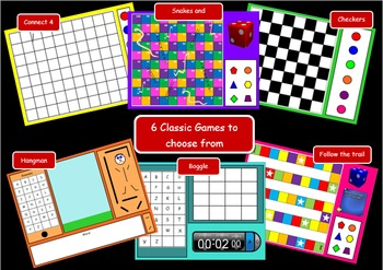 Smart Notebook Games- 6 game bundle pack- Great for revision and indoor duties