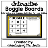 Interactive Boggle Boards - Distance Learning