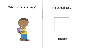 """""""ACTIONS & WH ?'S"""" INTERACTIVE BOOK with matching coloring book & homework."""
