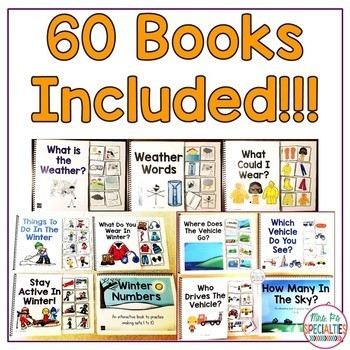 Interactive Book BUNDLE (Adapted Books For Special Education & Autism Classes)