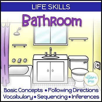Life Skills Interactive Book: Bathroom