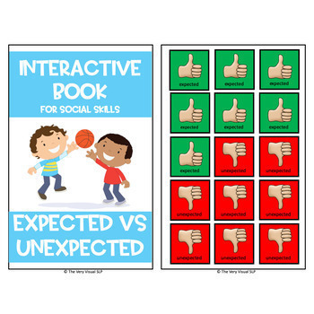 Interactive Book Expected Unexpected Behavior at School Social Skills Counseling