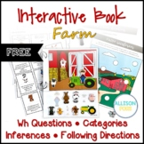 FREE Farm Interactive Book Speech Therapy