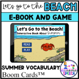 Interactive Book for Speech Therapy Beach Theme with Sentence Strips