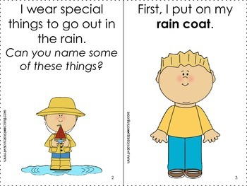 Interactive Book - Getting Dressed for Rain